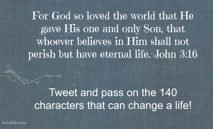 140 characters that can change a life