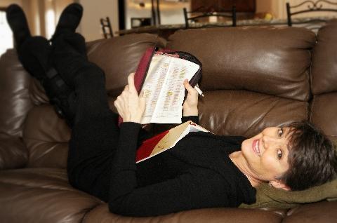 Lisa Buffaloe relaxing February 2014