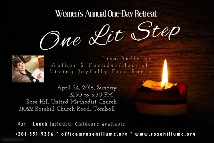 2016 Women's Retreat poster