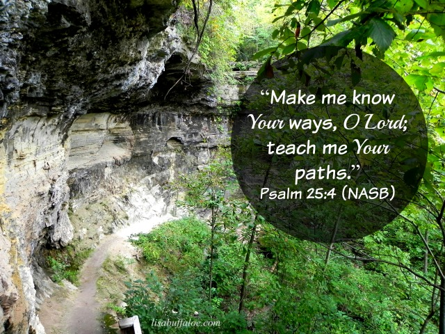 Make me know Your paths, Lord. Psalm 25:4